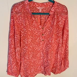 Lilly Pulitzer long Sleeve Pink Abstract Print